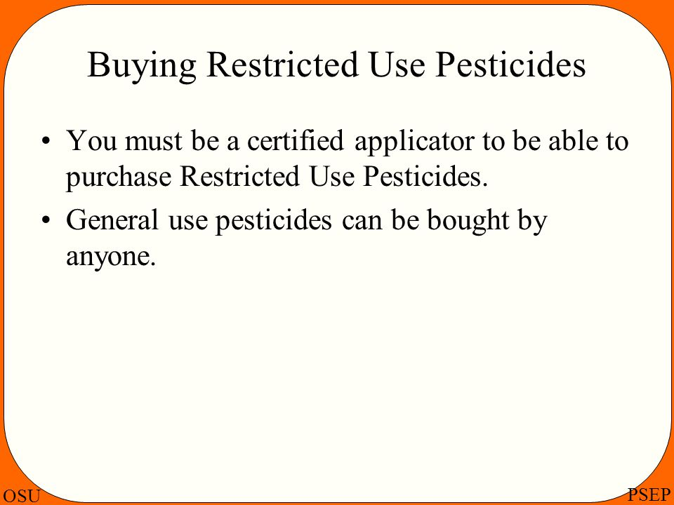 Buying Restricted Use Pesticides