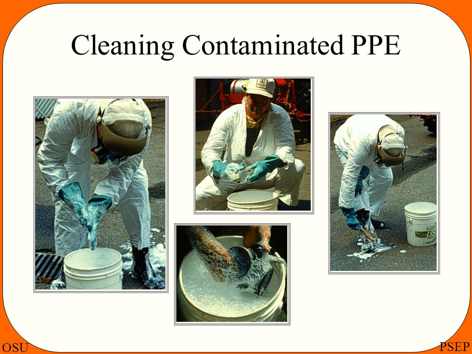 Cleaning Contaminated PPE