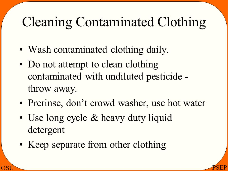 Cleaning Contaminated Clothing