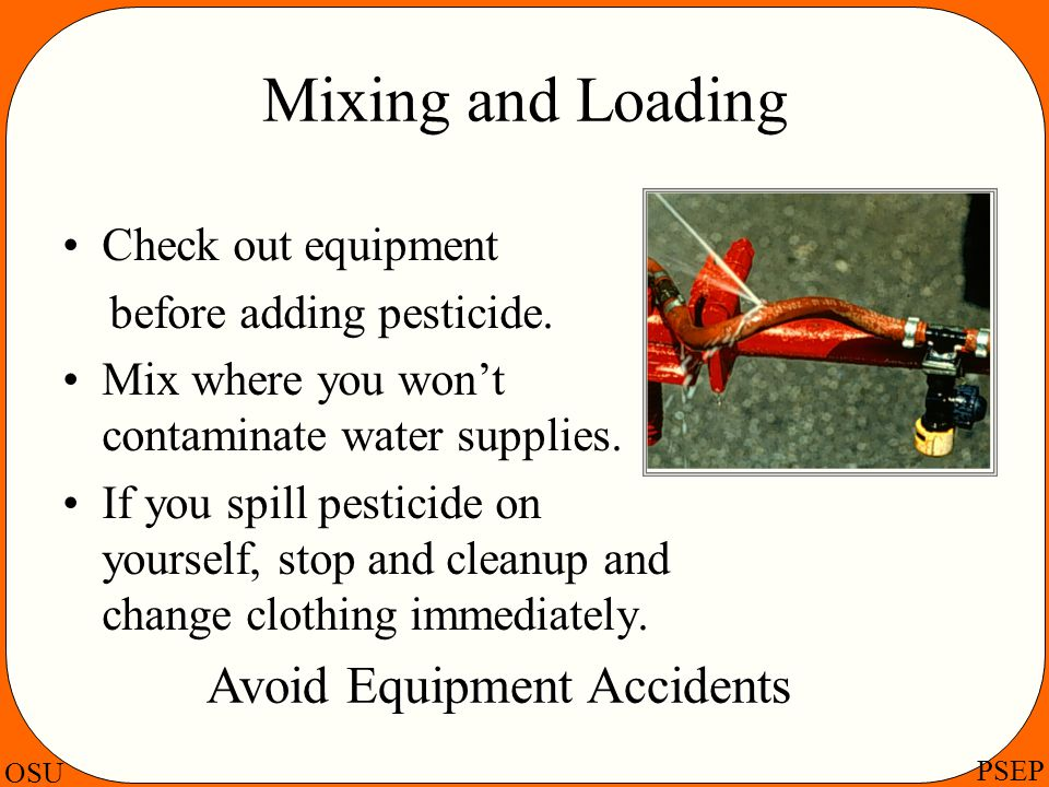 Avoid Equipment Accidents