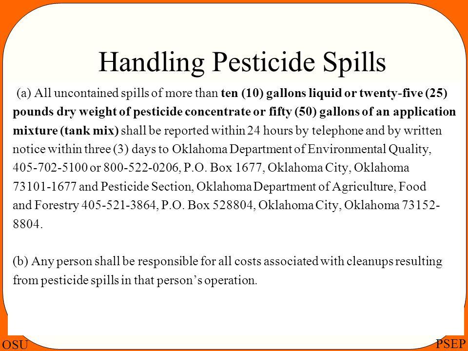 Handling Pesticide Spills