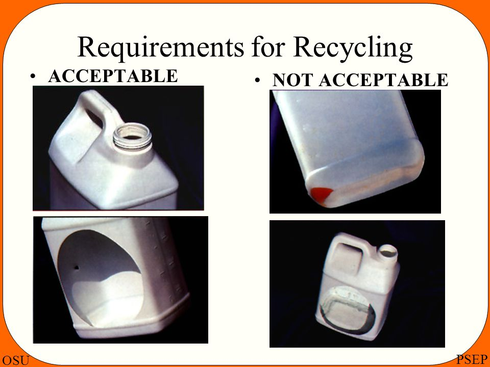 Requirements for Recycling