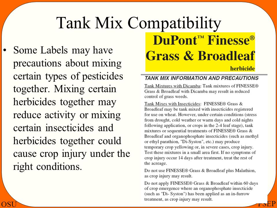 Tank Mix Compatibility