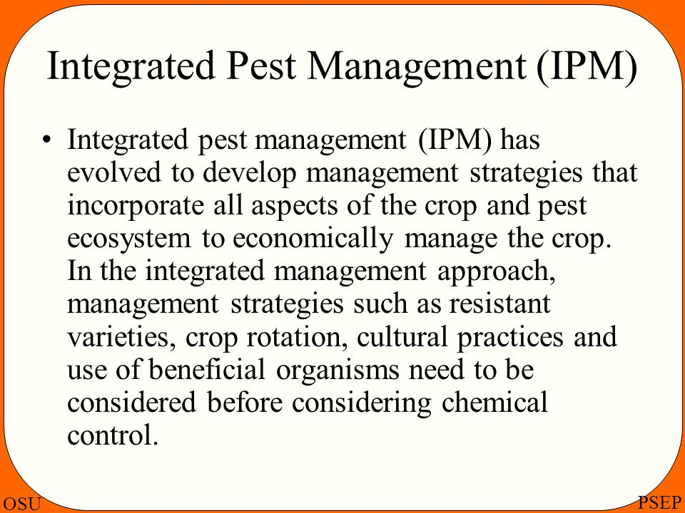 Integrated Pest Management (IPM)