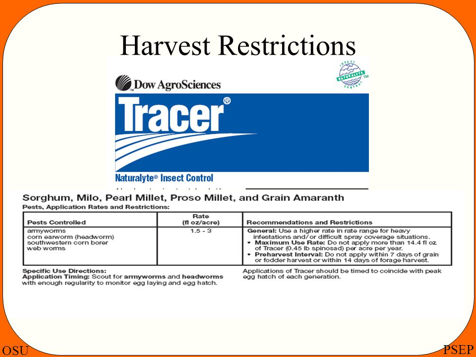 Harvest Restrictions