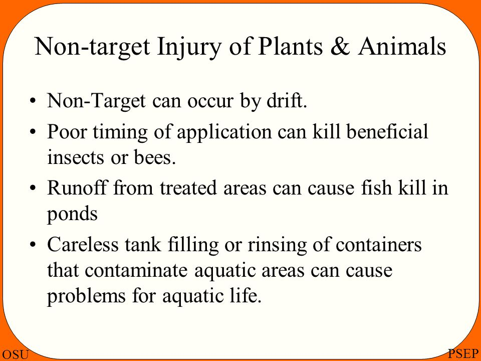 Non-target Injury of Plants & Animals