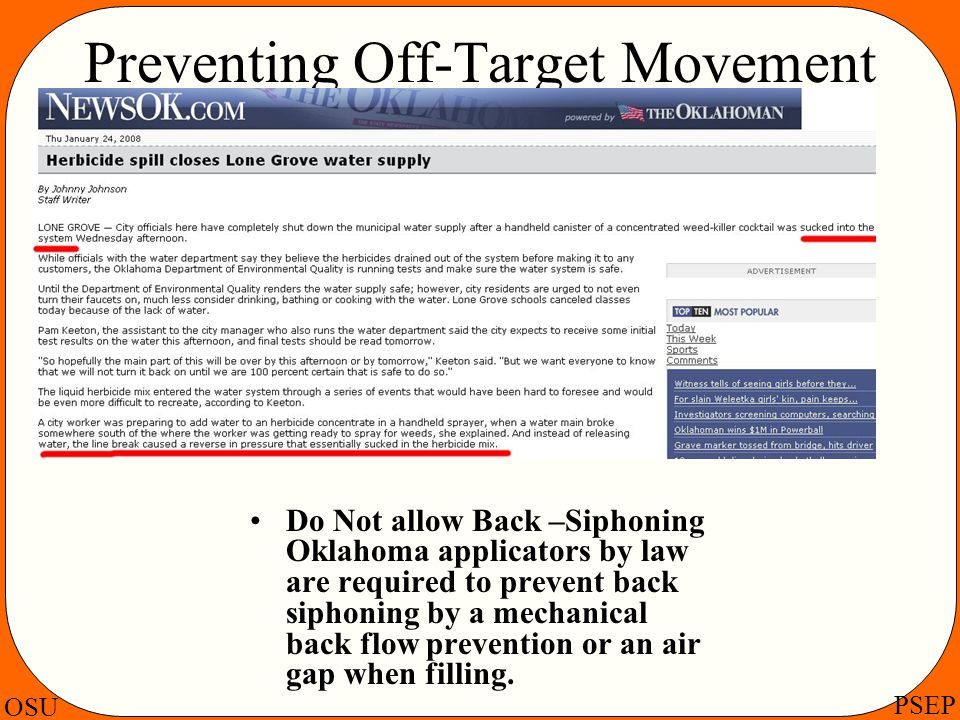 Preventing Off-Target Movement