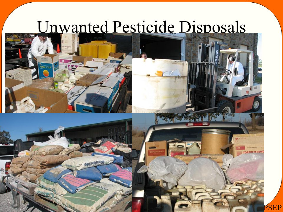 Unwanted Pesticide Disposals