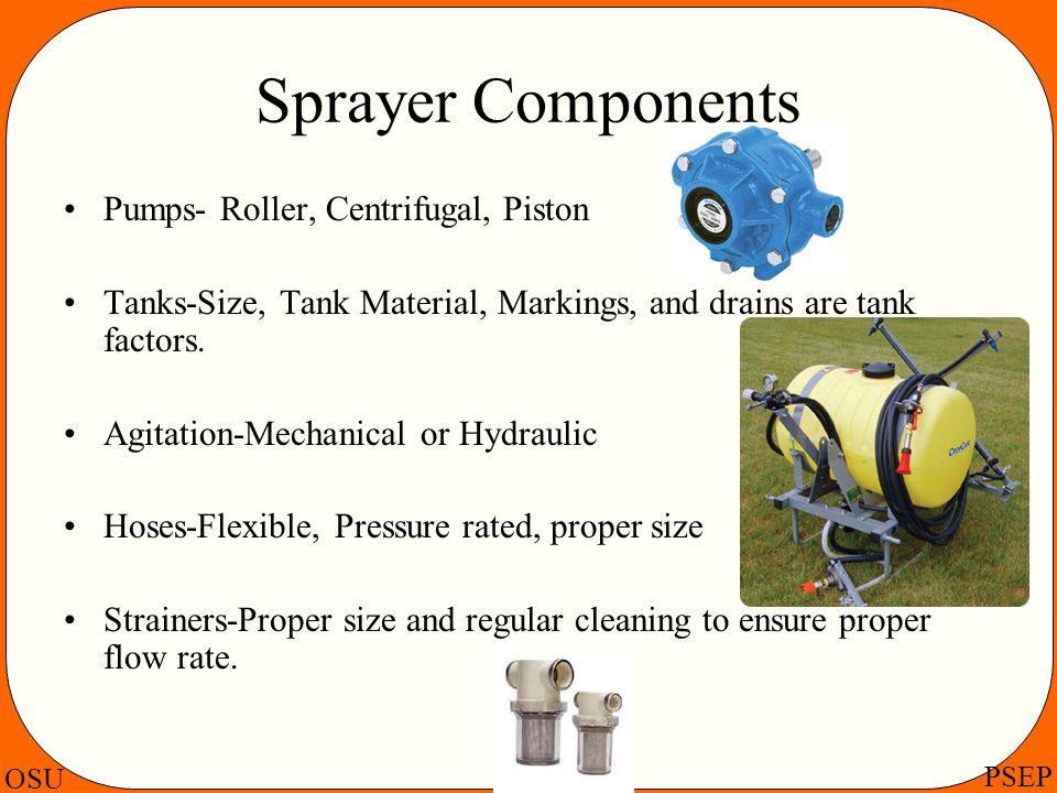 Sprayer Components Pumps- Roller, Centrifugal, Piston