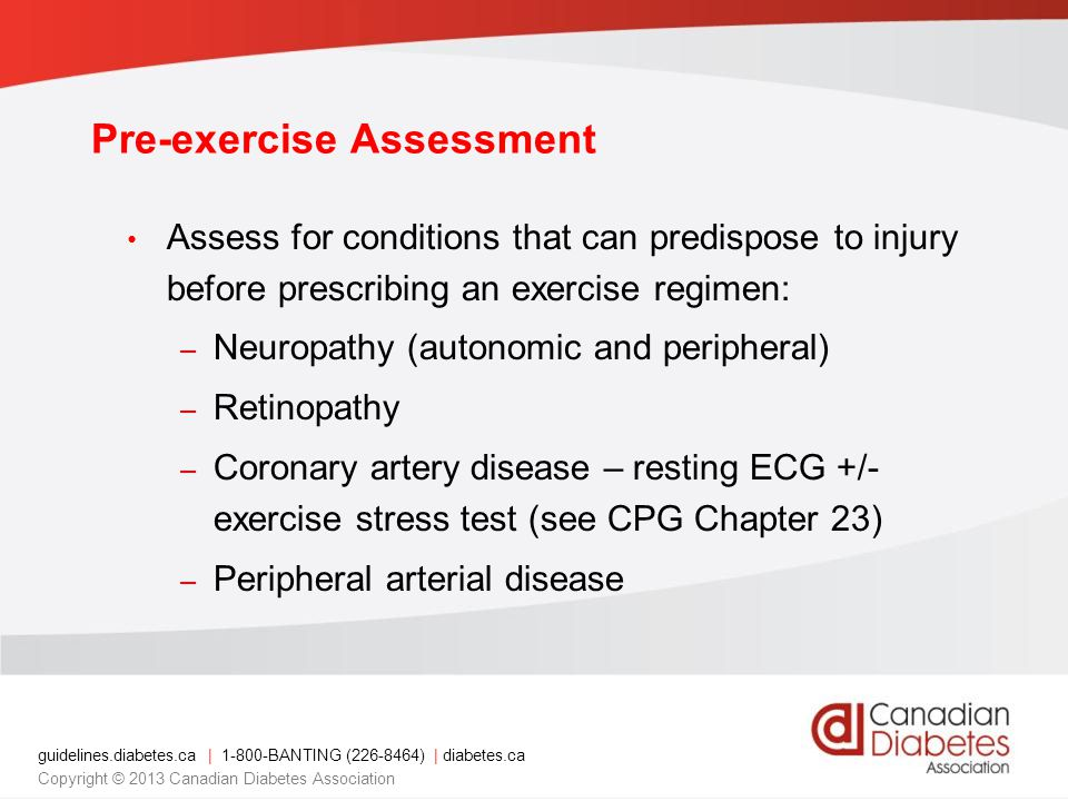 Pre-exercise Assessment