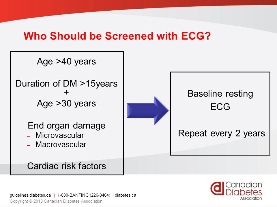 Who Should be Screened with ECG