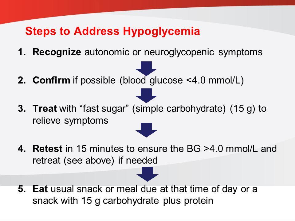 Steps to Address Hypoglycemia