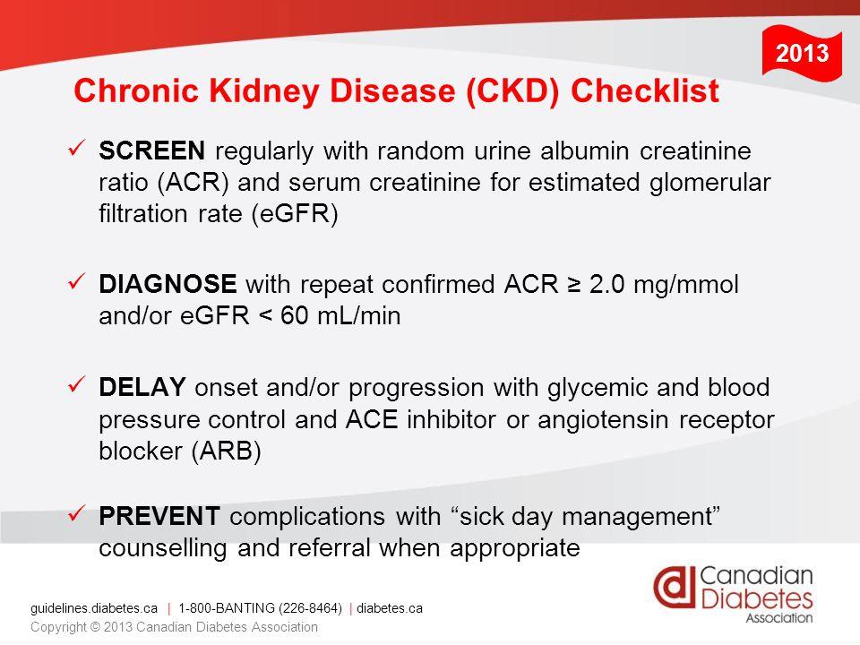 Chronic Kidney Disease (CKD) Checklist