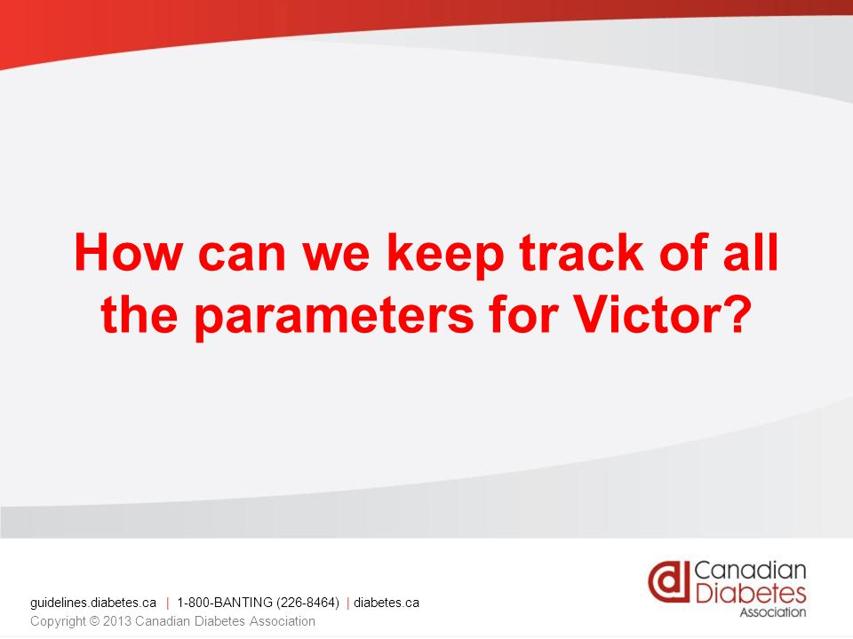 How can we keep track of all the parameters for Victor
