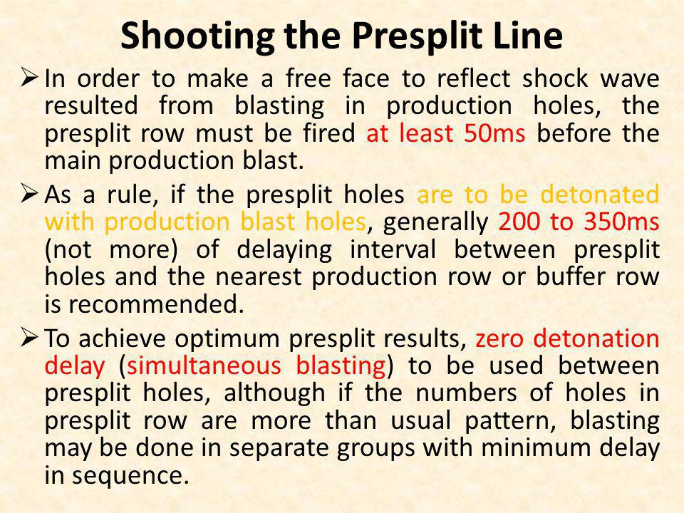 Shooting the Presplit Line