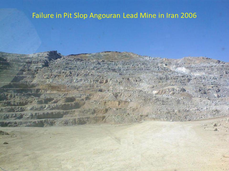 Failure in Pit Slop Angouran Lead Mine in Iran 2006