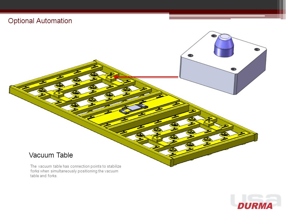 Optional Automation Vacuum Table