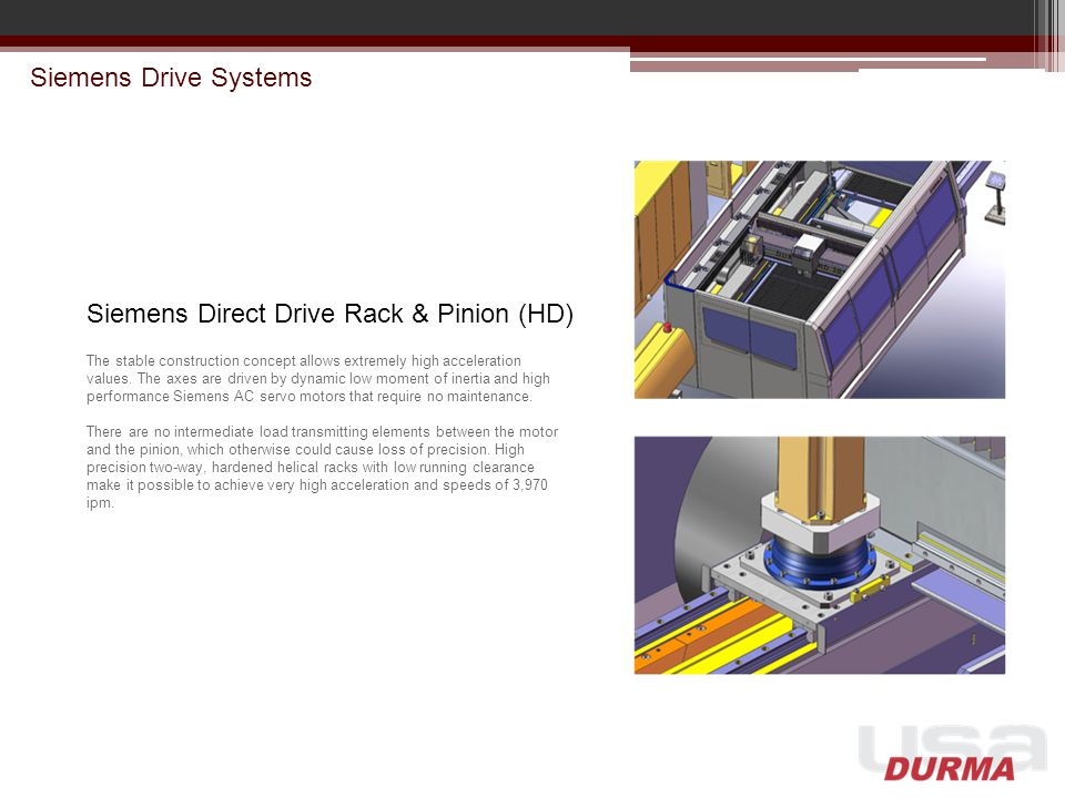 Siemens Direct Drive Rack & Pinion (HD)