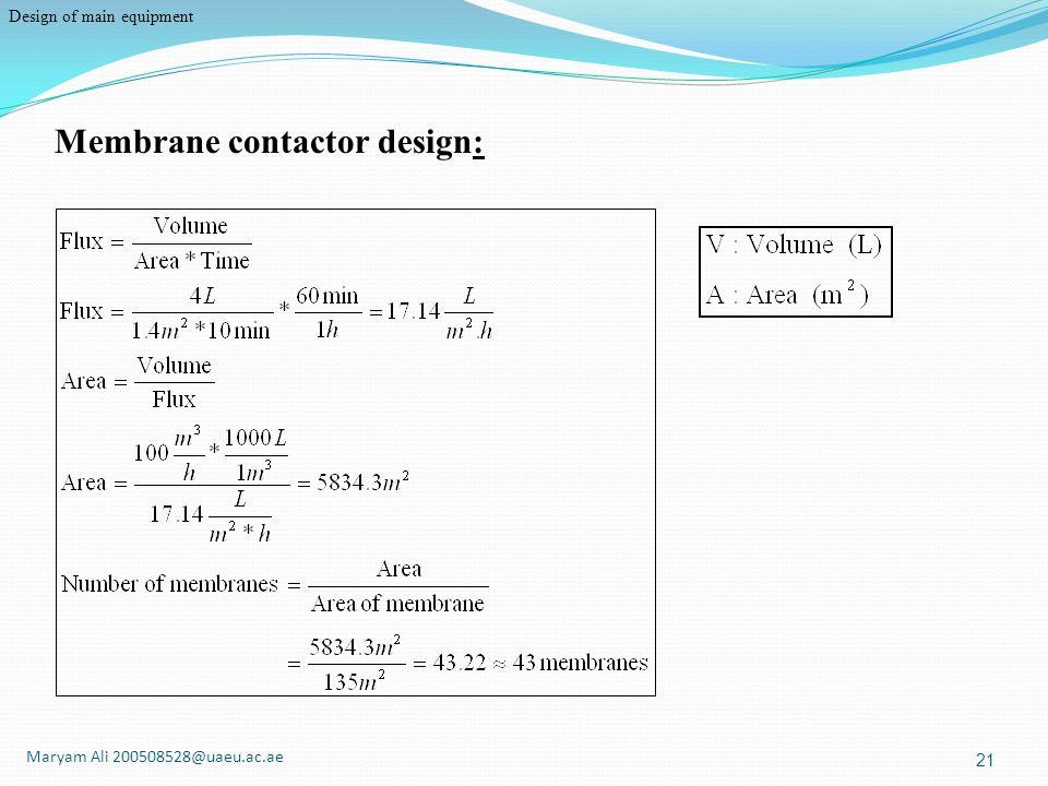 Membrane contactor design: