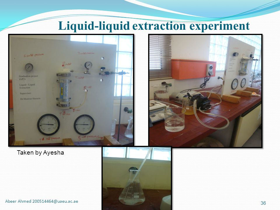 Liquid-liquid extraction experiment