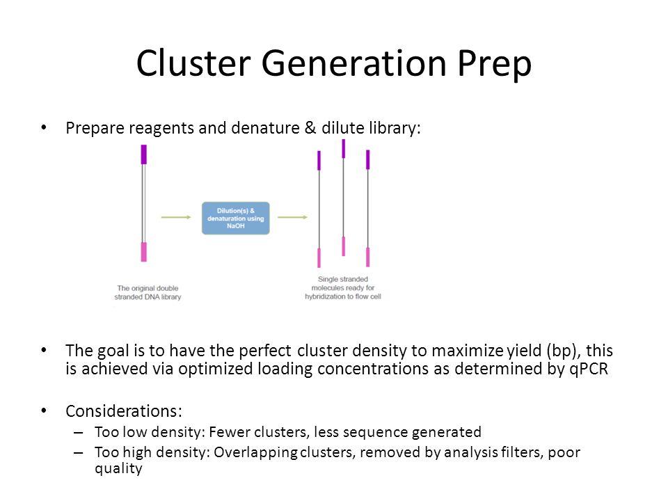 Cluster Generation Prep