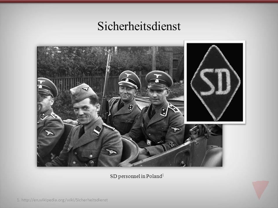 Sicherheitsdienst SD personnel in Poland1