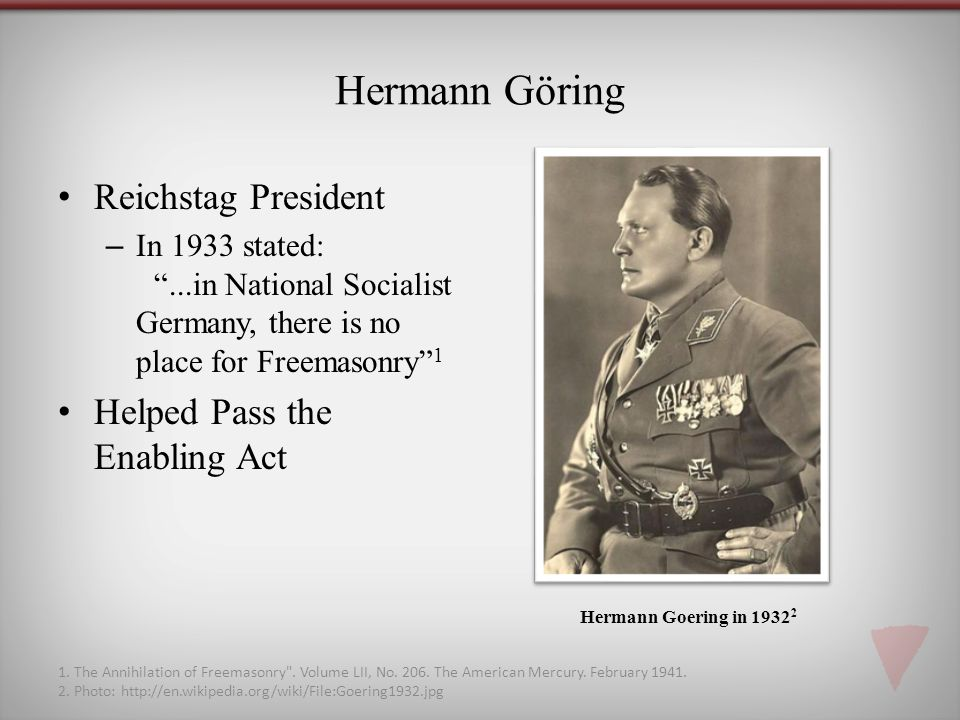 Hermann Göring Reichstag President Helped Pass the Enabling Act