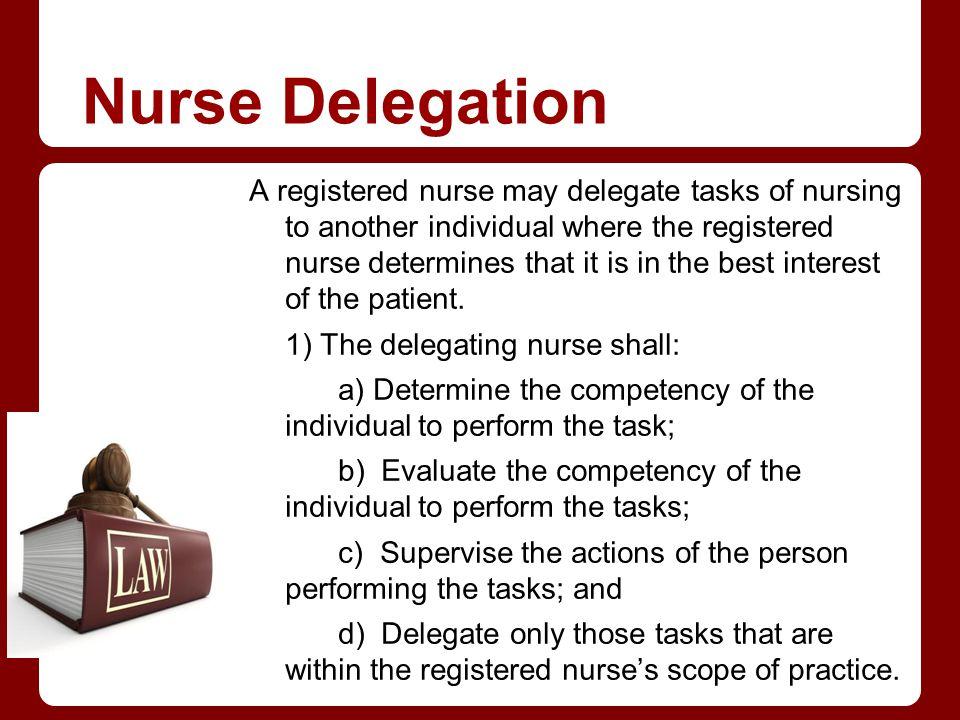 Nurse Delegation