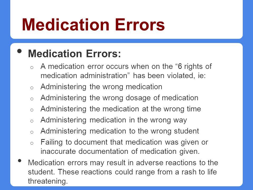 Medication Errors Medication Errors: