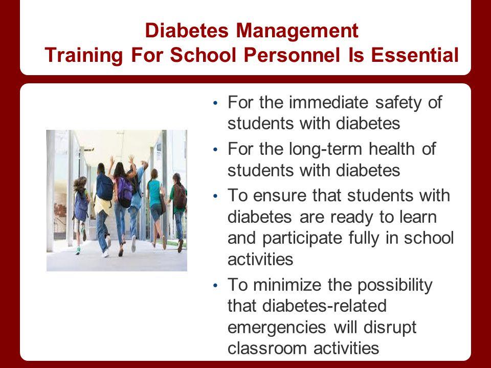 Diabetes Management Training For School Personnel Is Essential
