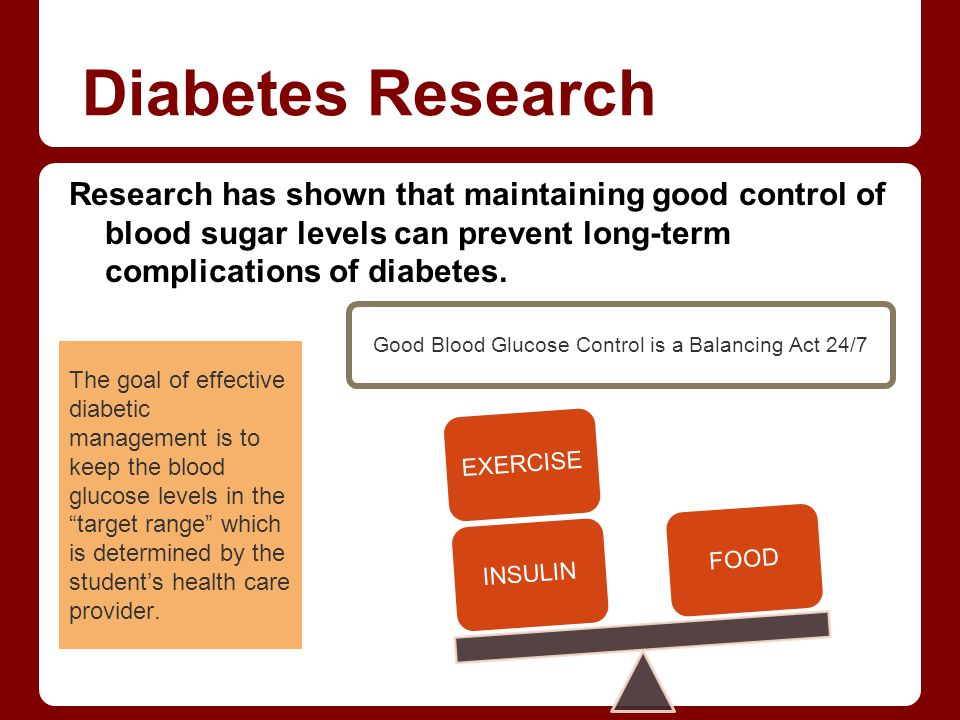 Good Blood Glucose Control is a Balancing Act 24/7