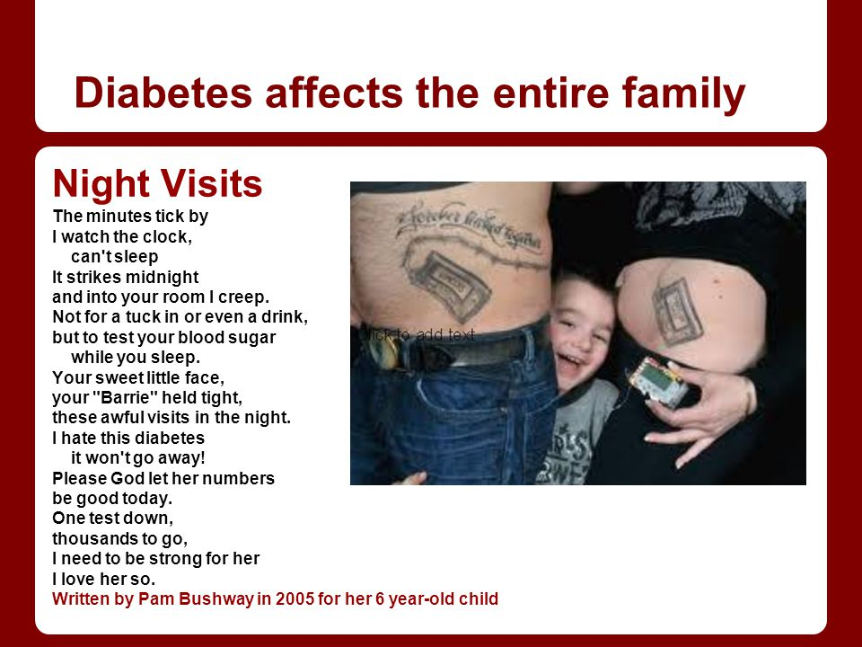 Diabetes affects the entire family