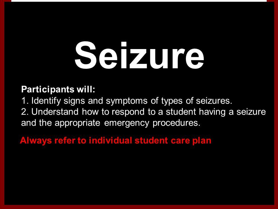 Seizure Participants will: