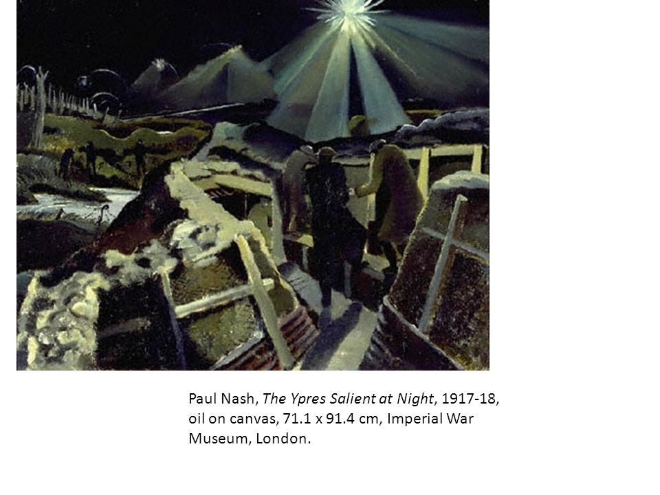 Paul Nash, The Ypres Salient at Night, 1917-18, oil on canvas, 71