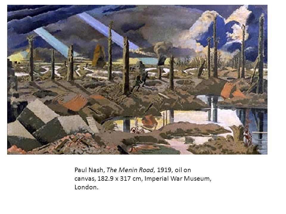 Paul Nash, The Menin Road, 1919, oil on canvas, 182