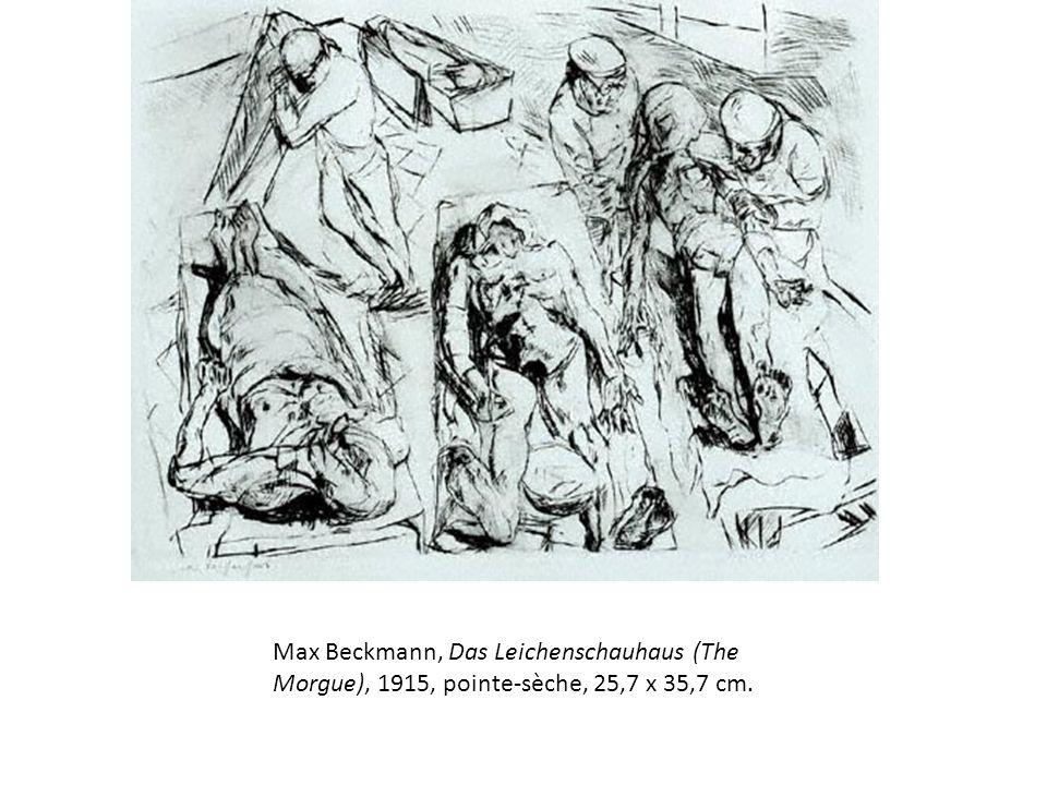 Max Beckmann, Das Leichenschauhaus (The Morgue), 1915, pointe-sèche, 25,7 x 35,7 cm.