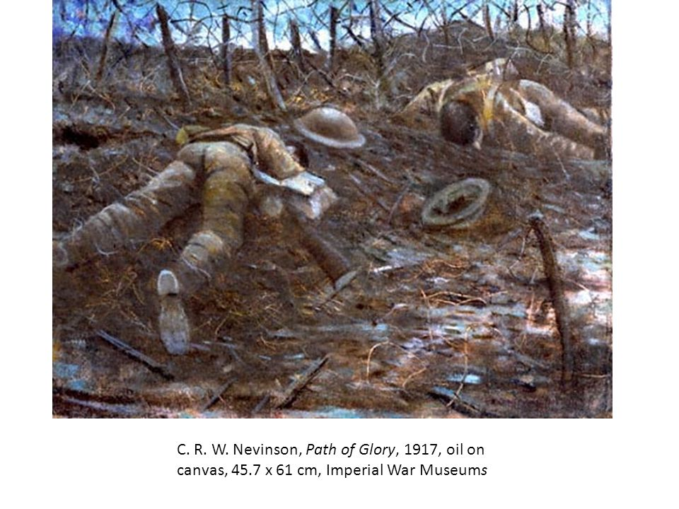 C. R. W. Nevinson, Path of Glory, 1917, oil on canvas, 45