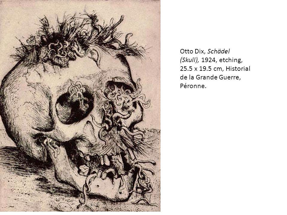 Otto Dix, Schädel (Skull), 1924, etching, 25. 5 x 19