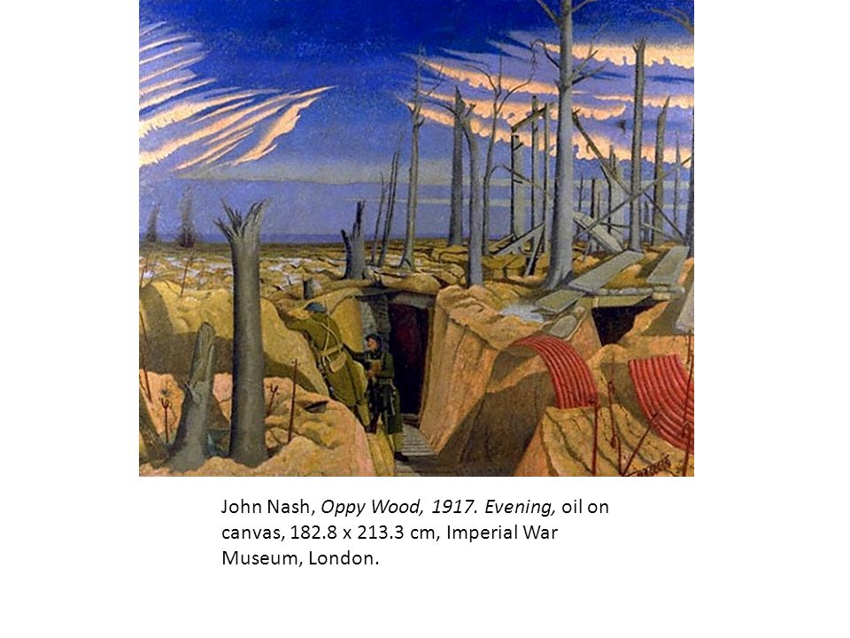 John Nash, Oppy Wood, 1917. Evening, oil on canvas, 182. 8 x 213