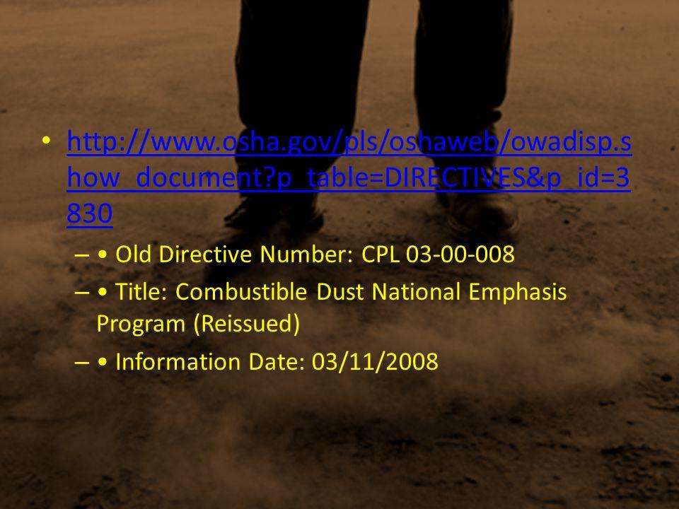 http://www. osha. gov/pls/oshaweb/owadisp. show_document