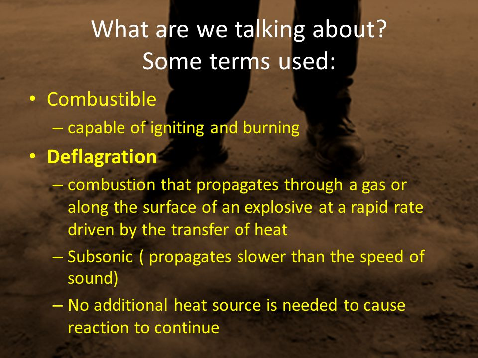 What are we talking about Some terms used: