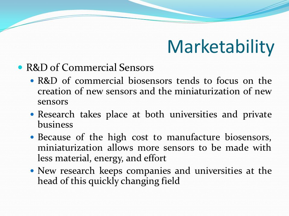 Marketability R&D of Commercial Sensors