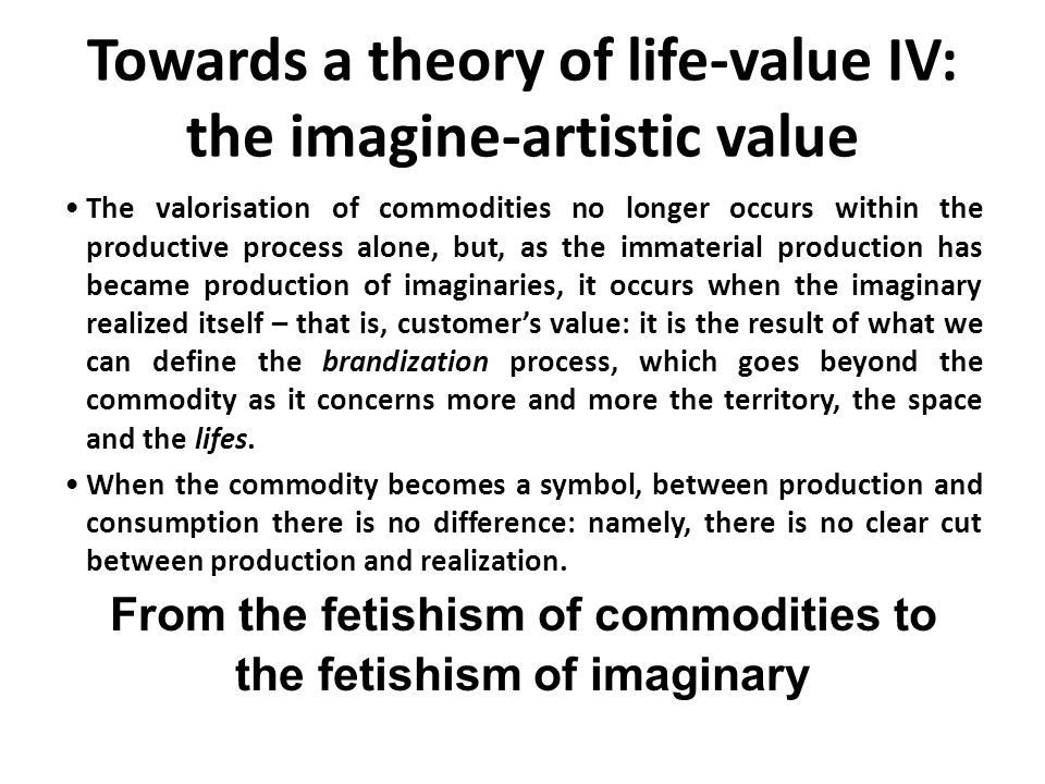 Towards a theory of life-value IV: the imagine-artistic value