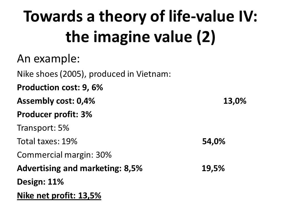 Towards a theory of life-value IV: the imagine value (2)