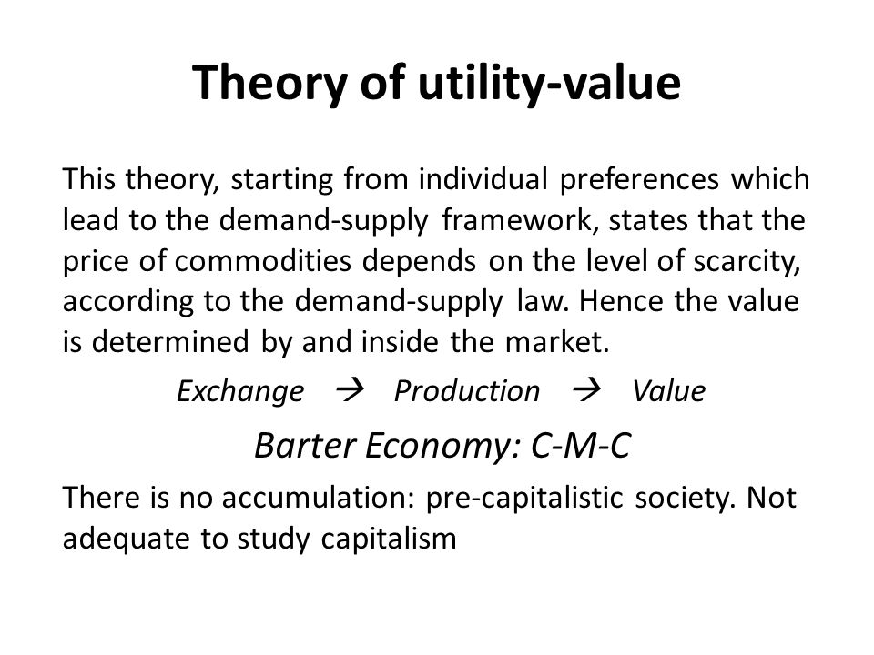 Theory of utility-value