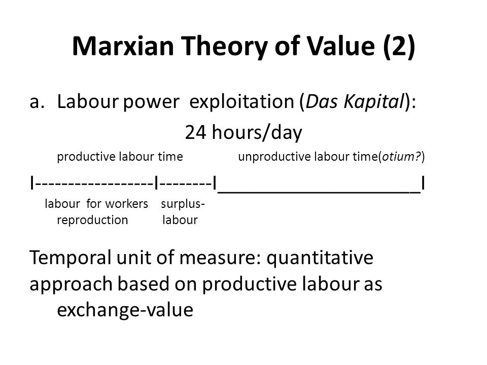 Marxian Theory of Value (2)