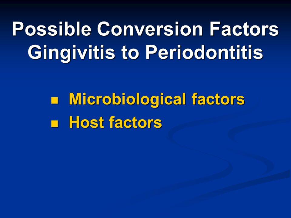 Possible Conversion Factors Gingivitis to Periodontitis