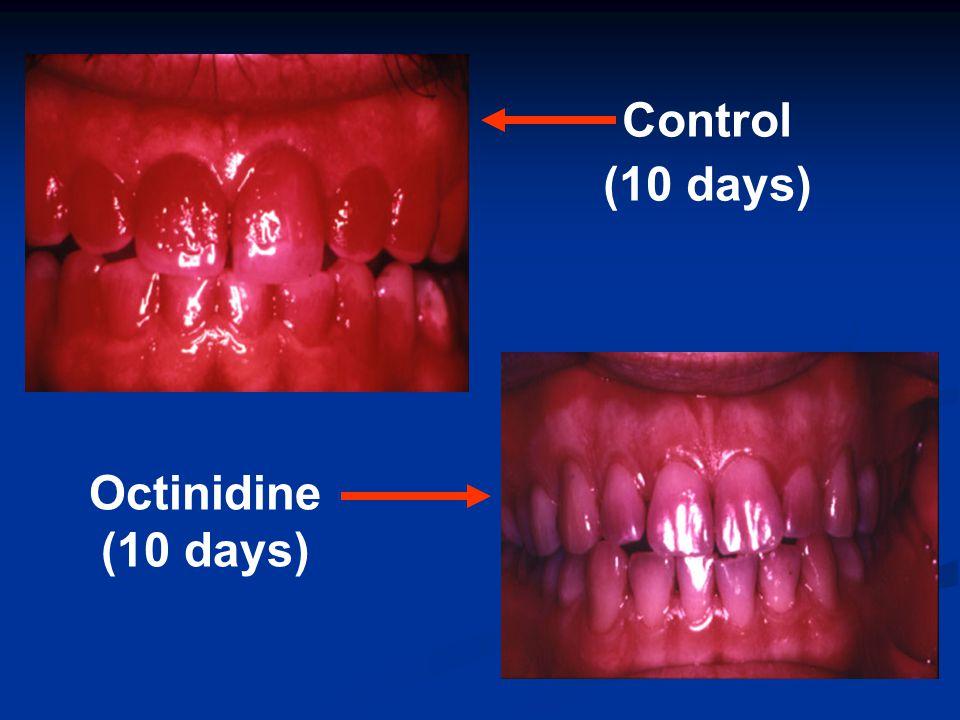 Control (10 days) Octinidine (10 days)