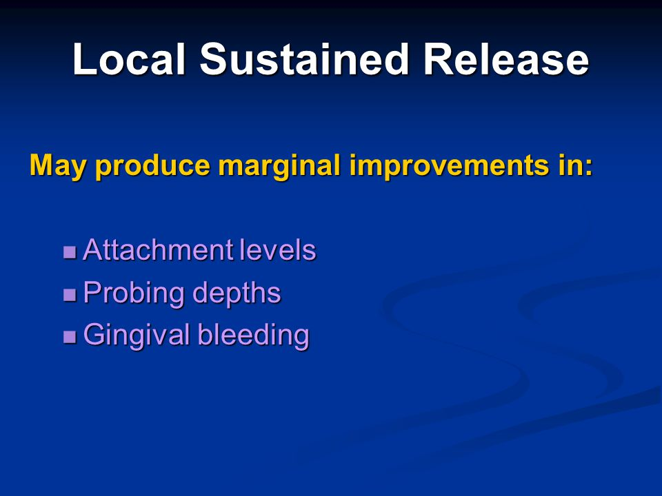 Local Sustained Release