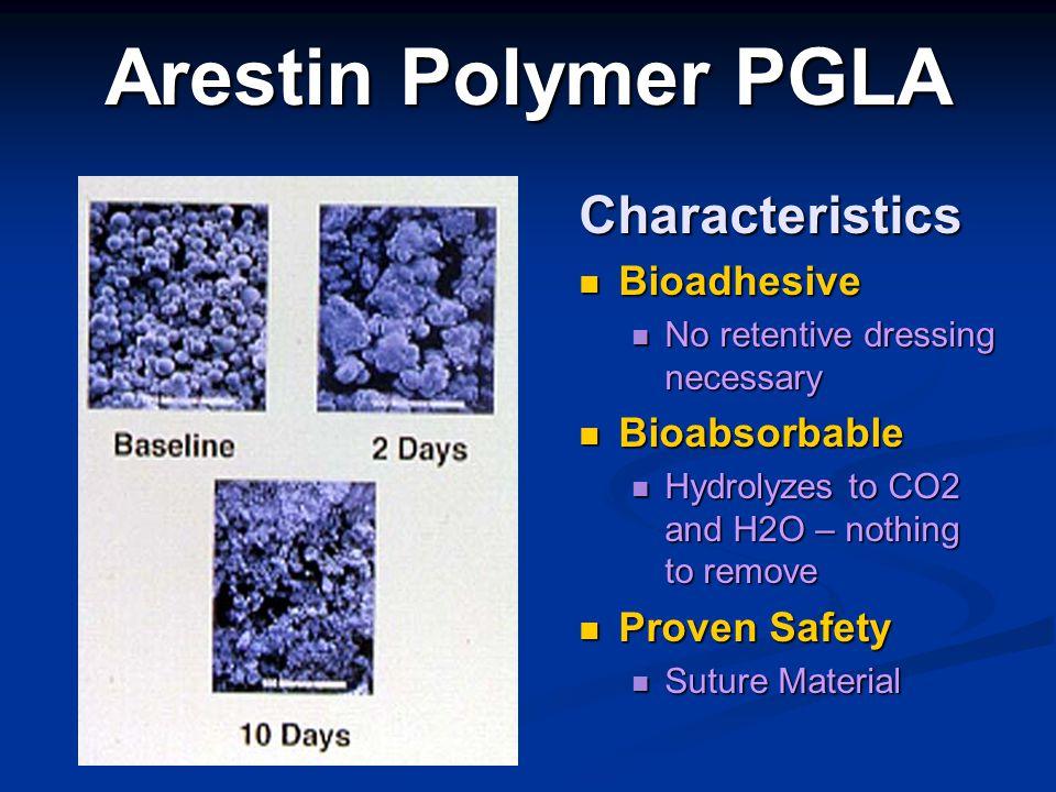 Arestin Polymer PGLA Characteristics Bioadhesive Bioabsorbable